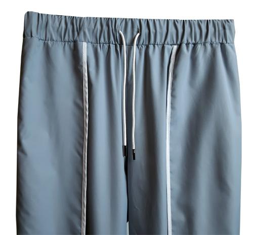 도조(DOZOH) GREY LAYERED TRACK PANTS