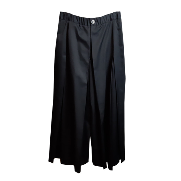 도조(DOZOH) BLACK PLEATS WIDE PANTS