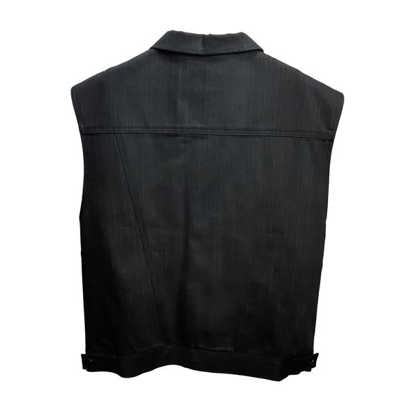 도조(DOZOH) BLACK TRUCKER VEST JACKET